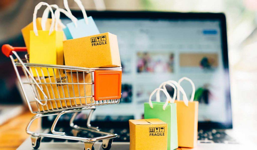 carrito con compras por internet